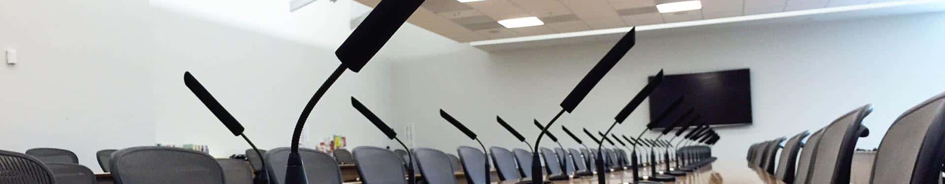 Los Angeles conference room, video conferening
